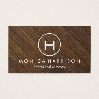 Monogram Wood Carpentry Business Card