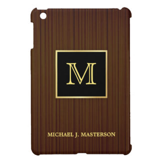 Monogram Wood-look Personalized iPad Mini Case