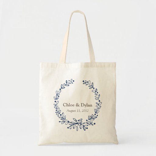 Monogram Wreath - Destination Wedding Tote Bag