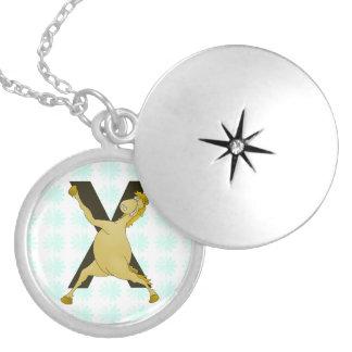 Monogram X Agile Pony Customised Round Locket Necklace