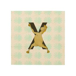 Monogram X Agile Pony Customized Wood Canvases