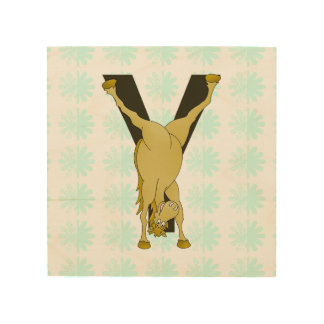 Monogram Y Agile Pony Customised Wood Canvas
