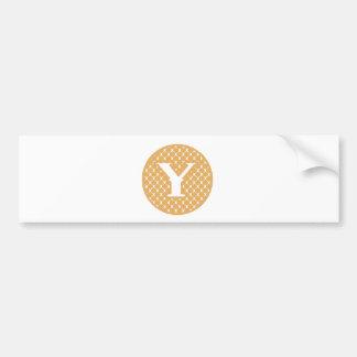 Monogram Y Bumper Sticker