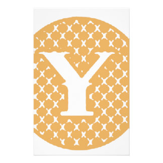 Monogram Y Stationery