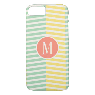 Monogram Yellow and Green Chevron iPhone 8/7 Case