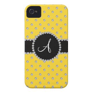 Monogram yellow diamonds polka dots iPhone 4 Case-Mate cases