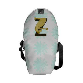 Monogram Z Funny Pony Customized Messenger Bag