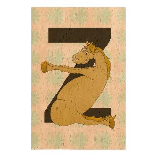 Monogram Z Funny Pony Customized Cork Paper