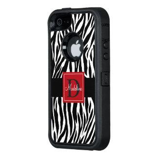 Monogram Zebra Otterbox OtterBox iPhone 5/5s/SE Case