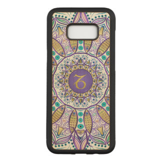 Monogram Zodiac Sign Capricorn Mandala Carved Samsung Galaxy S8+ Case