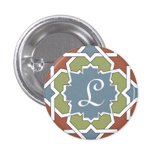 Monograma marroquí Alhambra Mosaico de azulejos Pins