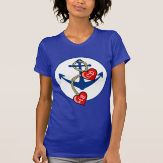 Monogramed Anchor with hearts T-Shirt