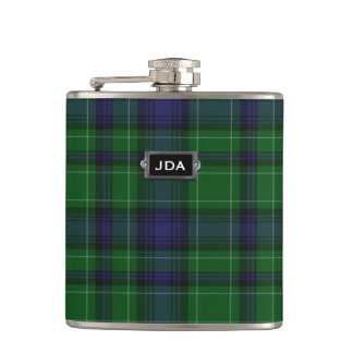 Monogramed Clan Abercrombie Tartan Plaid Flask