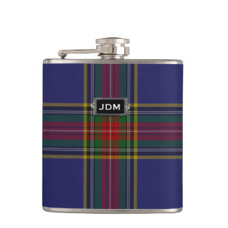 Monogramed Clan MacBeth Tartan Plaid Flask