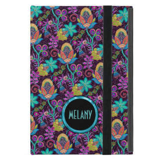 Monogramed Colorful Glass Beads Floral Design iPad Mini Case