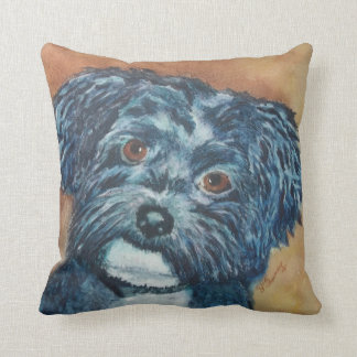 MONOGRAMED CUTIE BLACK HAVANESE CUSHION