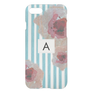 Monogramed Floral Stylish Striped Boho Chic iPhone 8/7 Case