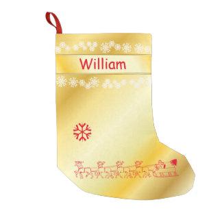Monogramed  Gold Christmas Stocking