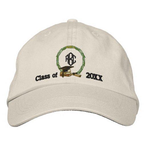 Monogramed Graduation Embroidered Hat