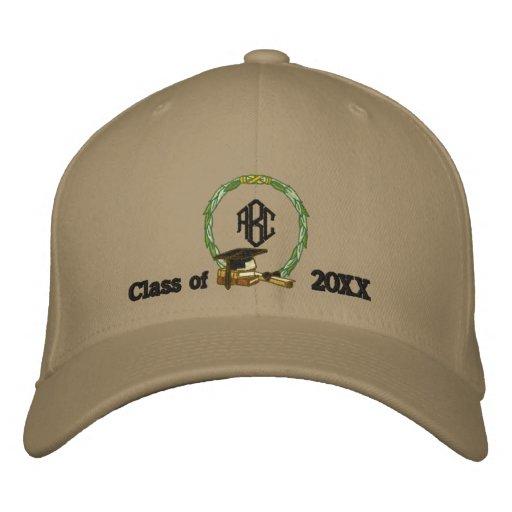 Monogramed Graduation Embroidered Baseball Caps