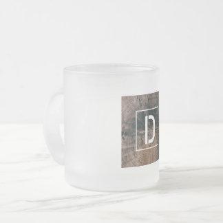 """Monogramed Letter """"D"""" Frosted Mug"""