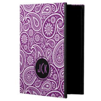 Monogramed Purple And White Vintage Paisley Powis iPad Air 2 Case