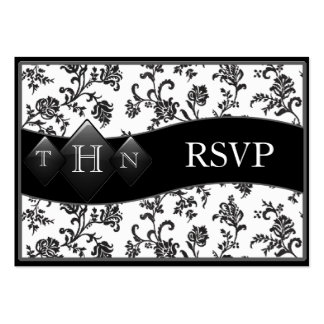 Monogramed Wedding RSVP Cards Pack Of Chubby Business Cards