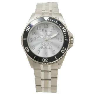 MONOGRAMMED 25th Anniversary Watches for Him