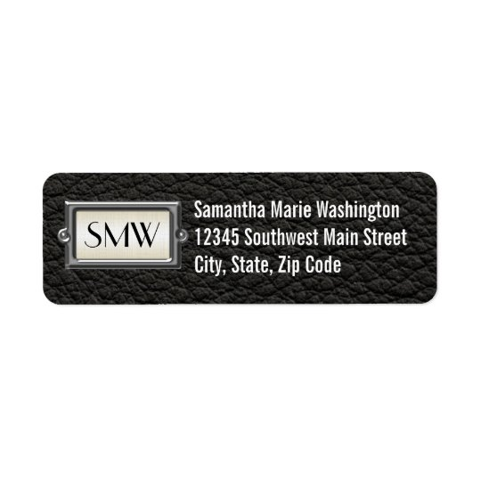 Monogrammed 3-Letter Executive Men's Personalised Return Address Label