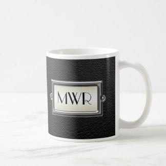 Monogrammed 3-Letter Executive Men's Personalized Basic White Mug