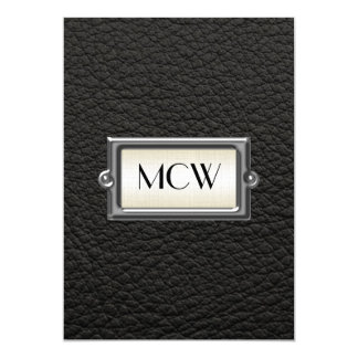 """Monogrammed 3-Letter Executive Men's Personalized 5"""" X 7"""" Invitation Card"""