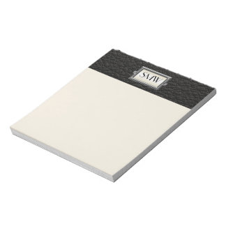 Monogrammed 3-Letter Executive Men's Personalized Notepads
