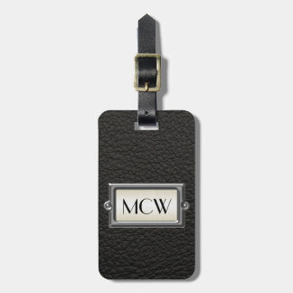 Monogrammed 3-Letter Executive Men's Personalized Travel Bag Tag