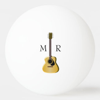 Monogrammed Acoustic Guitar Ping Pong Ball