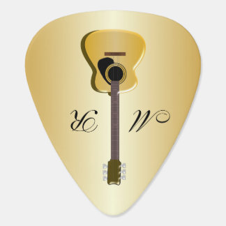 Monogrammed Acoustic Guitar Plectrum