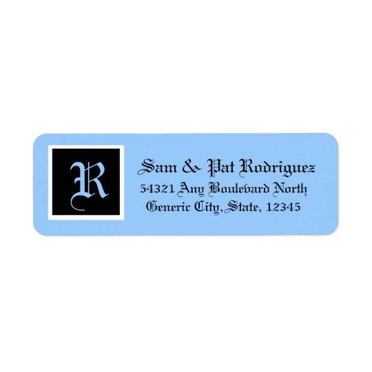 Monogrammed Address Label