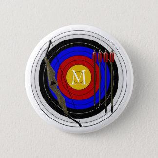 Monogrammed Archery Design 6 Cm Round Badge