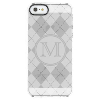 Monogrammed Argyle Clear iPhone SE/5/5s Case