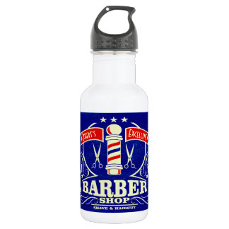 Monogrammed Barbershop Shave and Haircut Gift 532 Ml Water Bottle