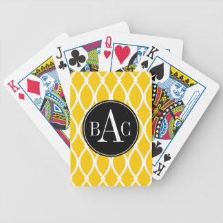 Monogrammed Barcelona Print Bicycle Playing Cards