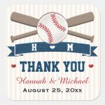 MONOGRAMMED BASEBALL THANK YOU WEDDING FAVOR