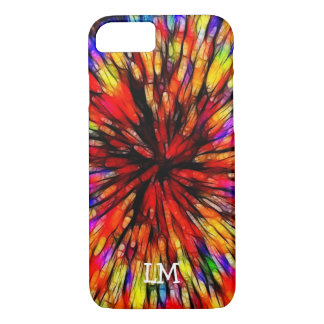 Monogrammed Batik Starburst iPhone8 case