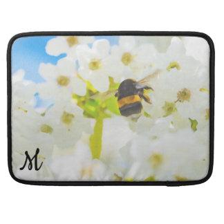 Monogrammed Bee in the Garden MacBook Sleeve