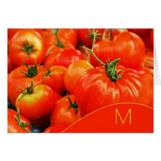 Monogrammed Big Red Tomatoes Card