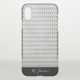Monogrammed Black Hexadiamond iPhone X Case