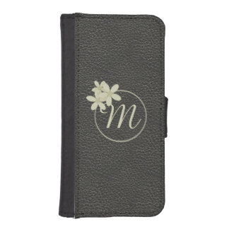 Monogrammed Black Leather Effect iPhone 5/5s Case