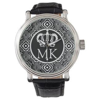Monogrammed Black Peddler Big Boss Wrist Watch