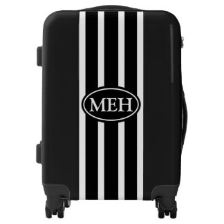 Monogrammed Black VS Luggage