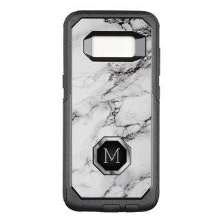 Monogrammed Black & White Marble Stone Pattern OtterBox Commuter Samsung Galaxy S8 Case