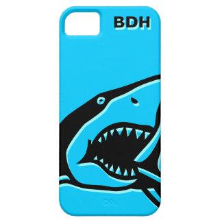 Monogrammed blue shark iPhone 5 case